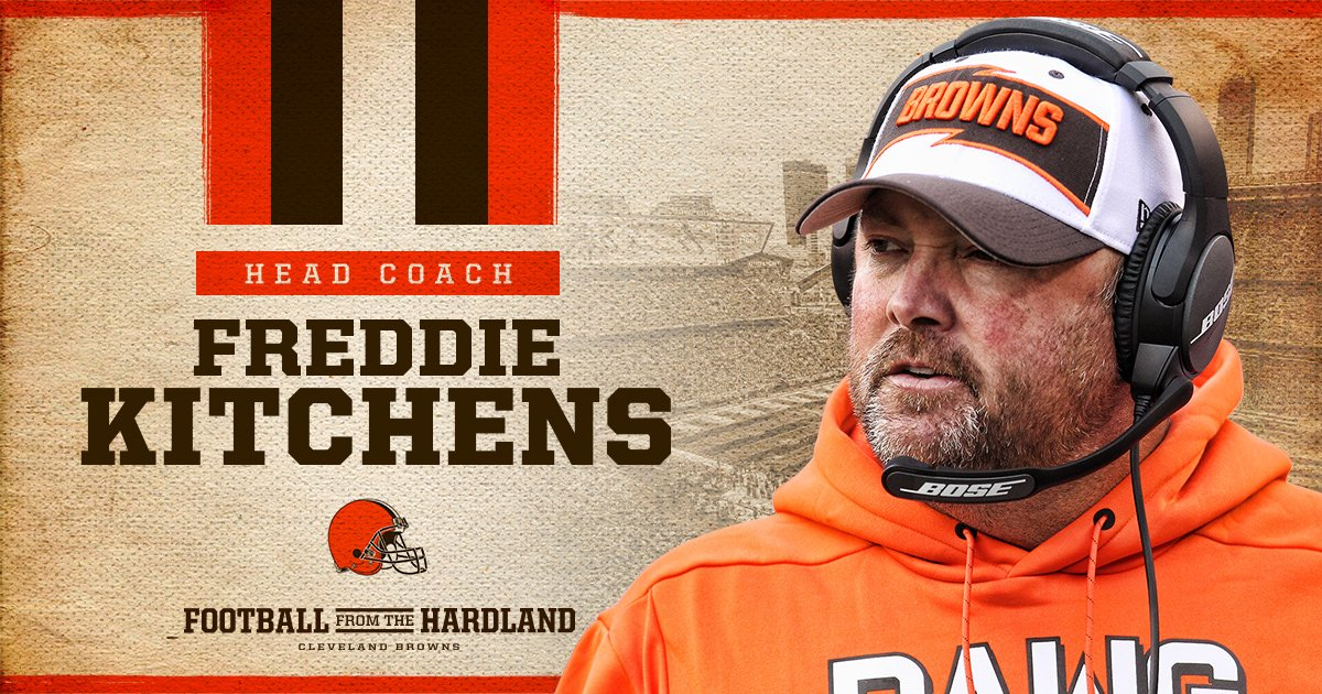 IT'S OFFICIAL!  Freddie Kitchens named Browns Head Coach  �� » https://t.co/lID8zaoBNW https://t.co/rMtgv38QI3