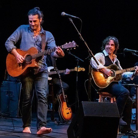 Adam Ezra of @adamezragroup sitting in with me and the Good Road Band at last night's sold out show at The Ark in AnnArbor, MI. See you tonight, Sheboygan! http://bit.ly/2RlLAxC