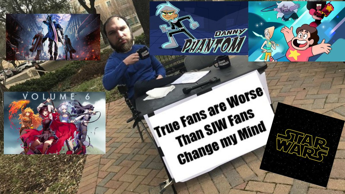 I&#39;ve been involved in multiple fandoms and one thing I can say for certain! The worst types of fans, beyond SJW Fans even, are the TRUE FANS! Don&#39;t agree with me? Well Change My Mind!  #DannyPhantom #RWBY #StarWars #StevenUniverse #DevilMayCry5  Link  https://www. youtube.com/watch?v=UkG4Ln KxXzQ &nbsp; … <br>http://pic.twitter.com/taOcOcutW2