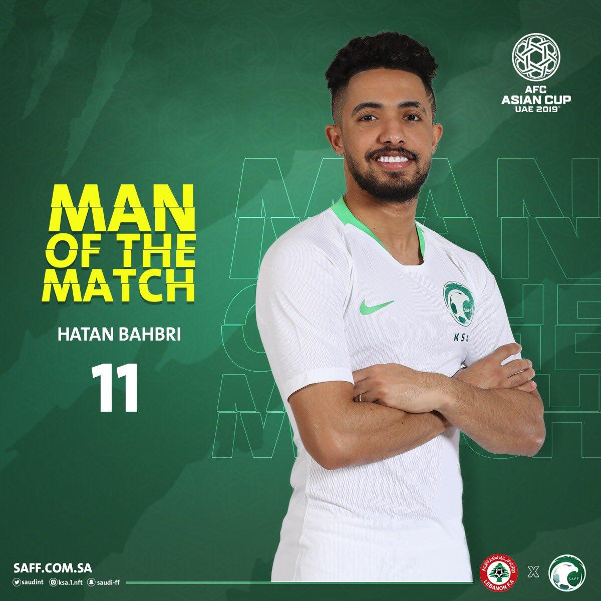 RT @SaudiNT: الاتحاد الآسيوي يختار هتان باهبري كأفضل لاعب في المباراة. #لبنان_السعودية #معاك_يالأخضر https://t.co/dq6CZ5l0gf