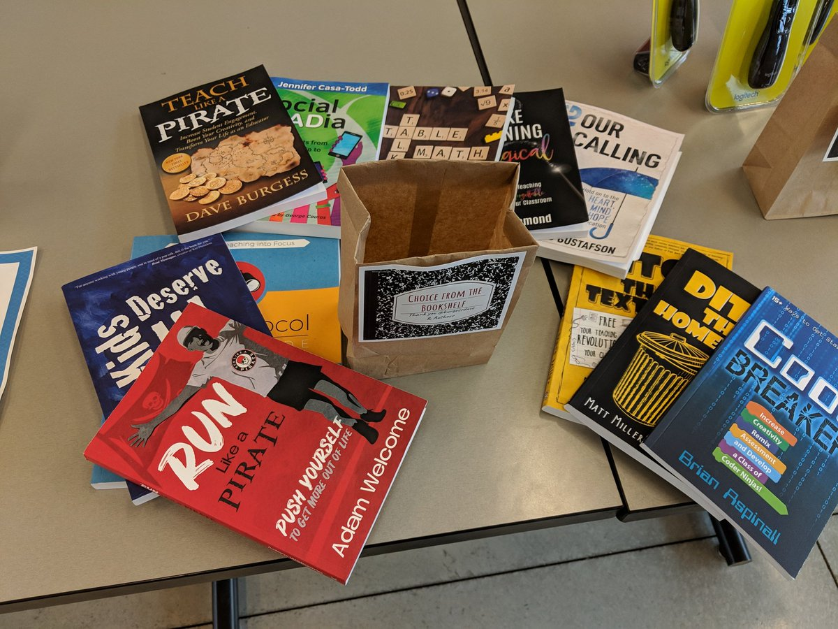 Thanks to @burgessdave and all of the great authors for your donations to #EdCamp612!!