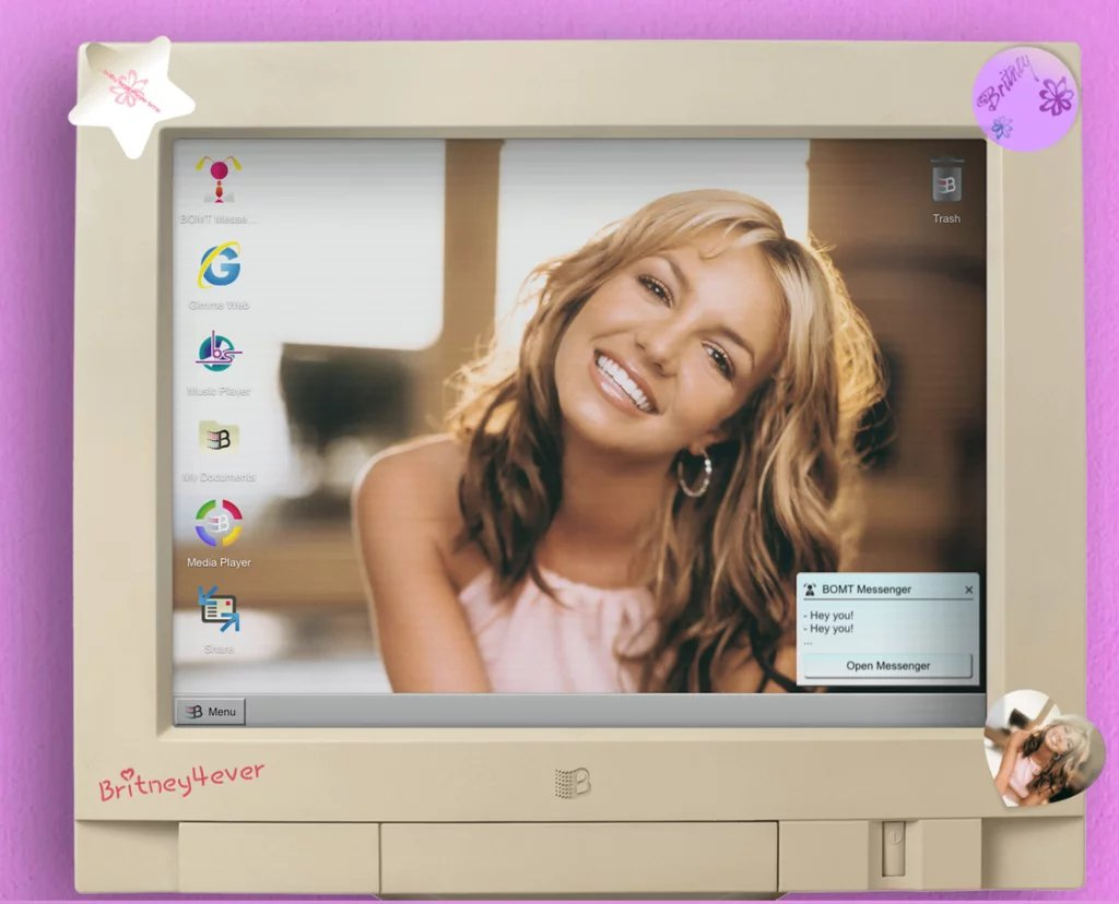 Ready to relive the 90's?! Celebrate 20 years of …Baby One More Time with Britney OS '99! Chat with Britney Bot to uncover exclusive content and your perfect Britney playlist!  https:// britney.lnk.to/ItsBritneyBotTA  &nbsp;   #babyonemoretime20  <br>http://pic.twitter.com/dpUYybrZmd