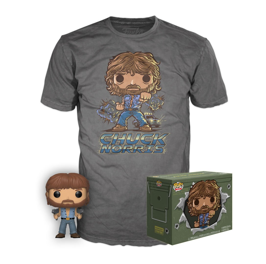 RT & follow @OriginalFunko for a chance to WIN a @Target exclusive Chuck Norris Pop! & Tee (size M)