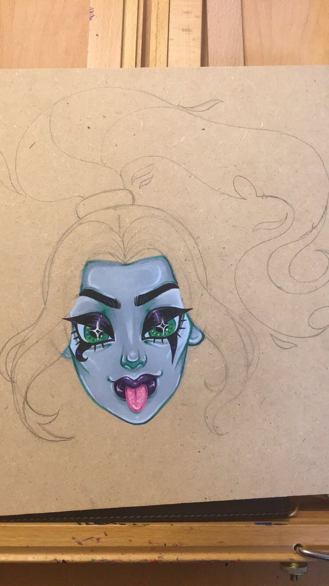 WIP of #Ember from #DannyPhantom  @Nickelodeon<br>http://pic.twitter.com/pi8kgZXnIW