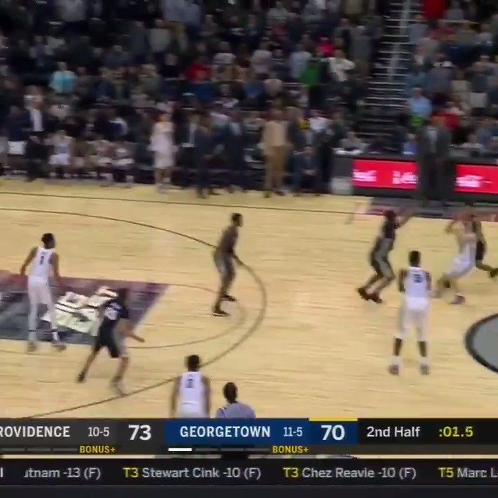 Mac McClung AT THE BUZZER 💰  James Akinjo with 3 seconds left in OT 💰  Hoyas win in Double OT, 96-90 https://t.co/Pn1q2ewCY2