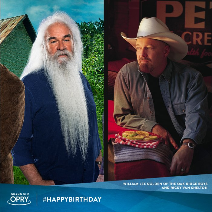 Today&#39;s an #OpryMember birthday x2! Let&#39;s give two big ole &#39;HAPPY BIRTHDAY&#39; shouts to @wlgolden of @oakridgeboys and Ricky Van Shelton!<br>http://pic.twitter.com/zUeqUvjZPu