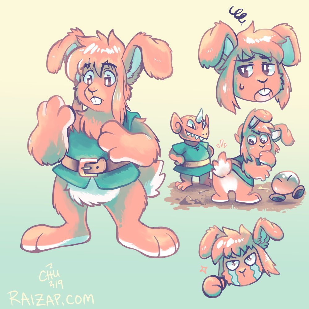 """Inspired by this """"hare""""-raising one-hit KO run of A Link to the Past on #AGDQ2019, here's some appreciation for bunny Link! <br>http://pic.twitter.com/238c5eidmC"""