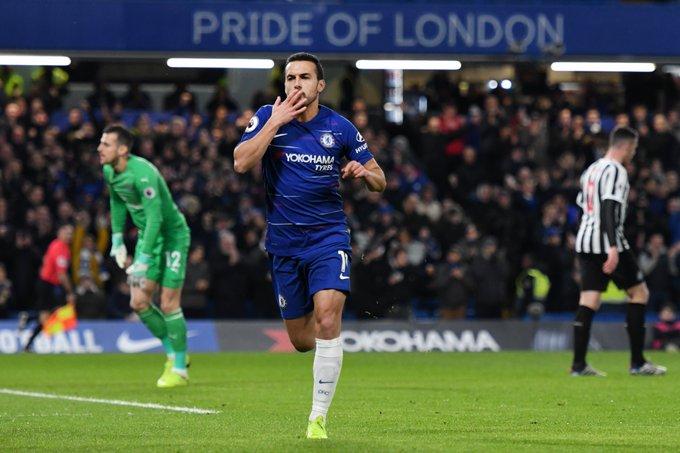Good win! Happy with the result and the goal. Come on BLUES!! 🔵⚽🔥 / Buen triunfo! Feliz por el resultado y por el gol!! +3⃣ @ChelseaFC #CFC #CHENEW Photo