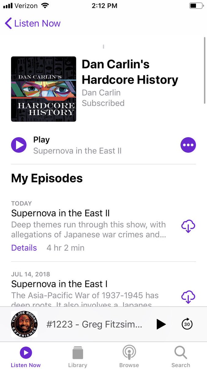 OMG a new Hardcore History dropped. 🙌