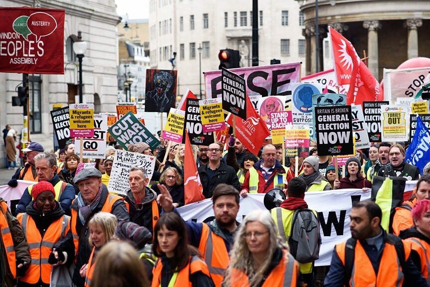 These people aren't marching for the 48%, or for the 52%.   They ARE marching for the 99%, and they want a #GeneralElectionNow!  #ForTheManyNotTheFew<br>http://pic.twitter.com/6Xcgczd5ZV