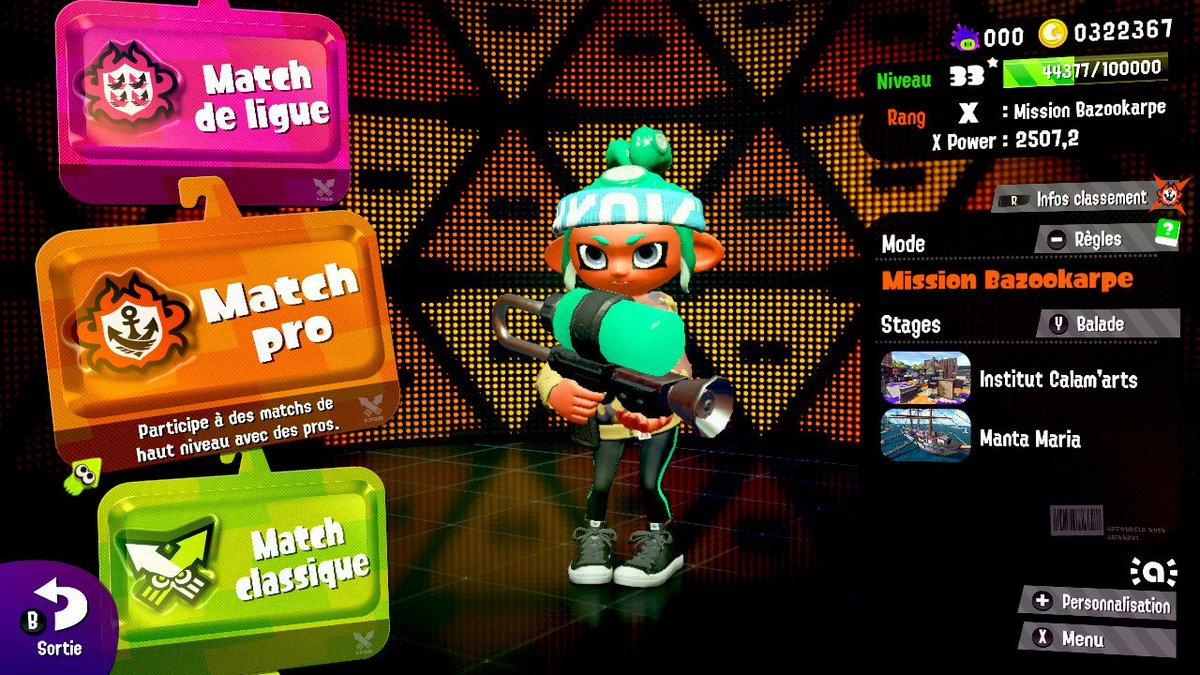 +2500 Power ; ) #Splatoon2 #NintendoSwitch<br>http://pic.twitter.com/x539oDlX4o