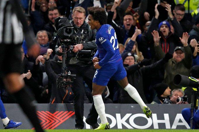 El Chelsea se valió de Willian para derrotar al Newcastle (2-1) ► Photo