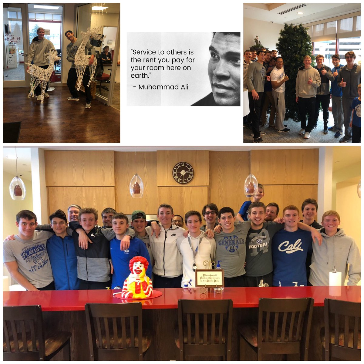 Thank you to The Ronald McDonald House of Toledo for hosting us today for your Christmas season cleanup. It was a fun day of giving back! #payitforward #BluePride #WinTheMoment<br>http://pic.twitter.com/kcnNabFqIc