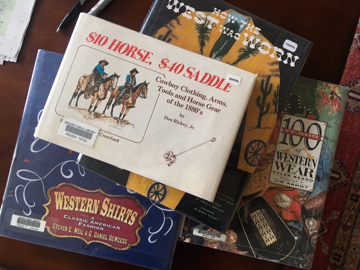 "Work research. ""How The West Was Worn."" ""$10 Horse, $40 Saddle."" I love my job. And thank you @denverlibrary!"