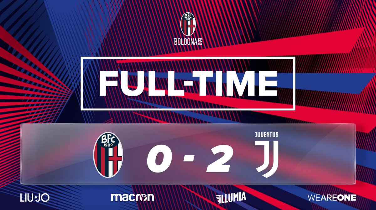 All over at the Dall'Ara.   Juventus go through to the next round of the cup. We'll be back in league action on Sunday away at Spal.   #BolognaJuve  #WeAreOne 🔴🔵