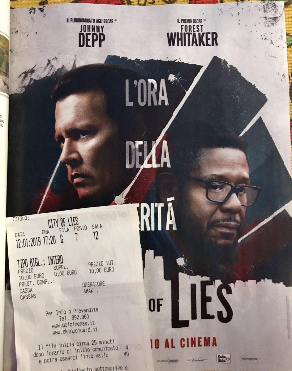 """JUST SAW JOHNNY DEPP's NEW MOVIE """"CITY OF LIES"""" YOU SHOULD GO TO SEE IT Is really something else...2 hours of Johnny Depp entirely   #JohnnyDepp #IBelieveHim #CityOfLies @CityofLiesMovie #SaturdayMotivation #SaturdayMorning <br>http://pic.twitter.com/duDIUYF9PH"""