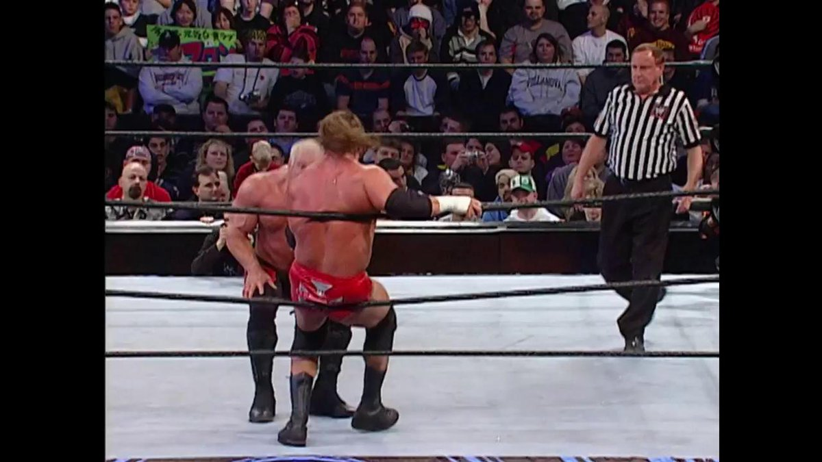It was time for #BigPoppaPump to play THE GAME at #RoyalRumble 2003!