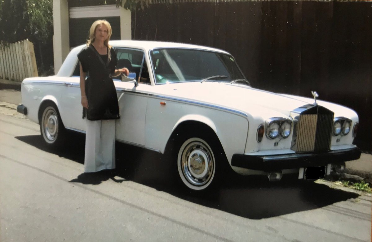 "Happy Birthday to the lovely Martine! It's also ten years ago today that we acquired ""Lizzie"" the Rolls. 😀"