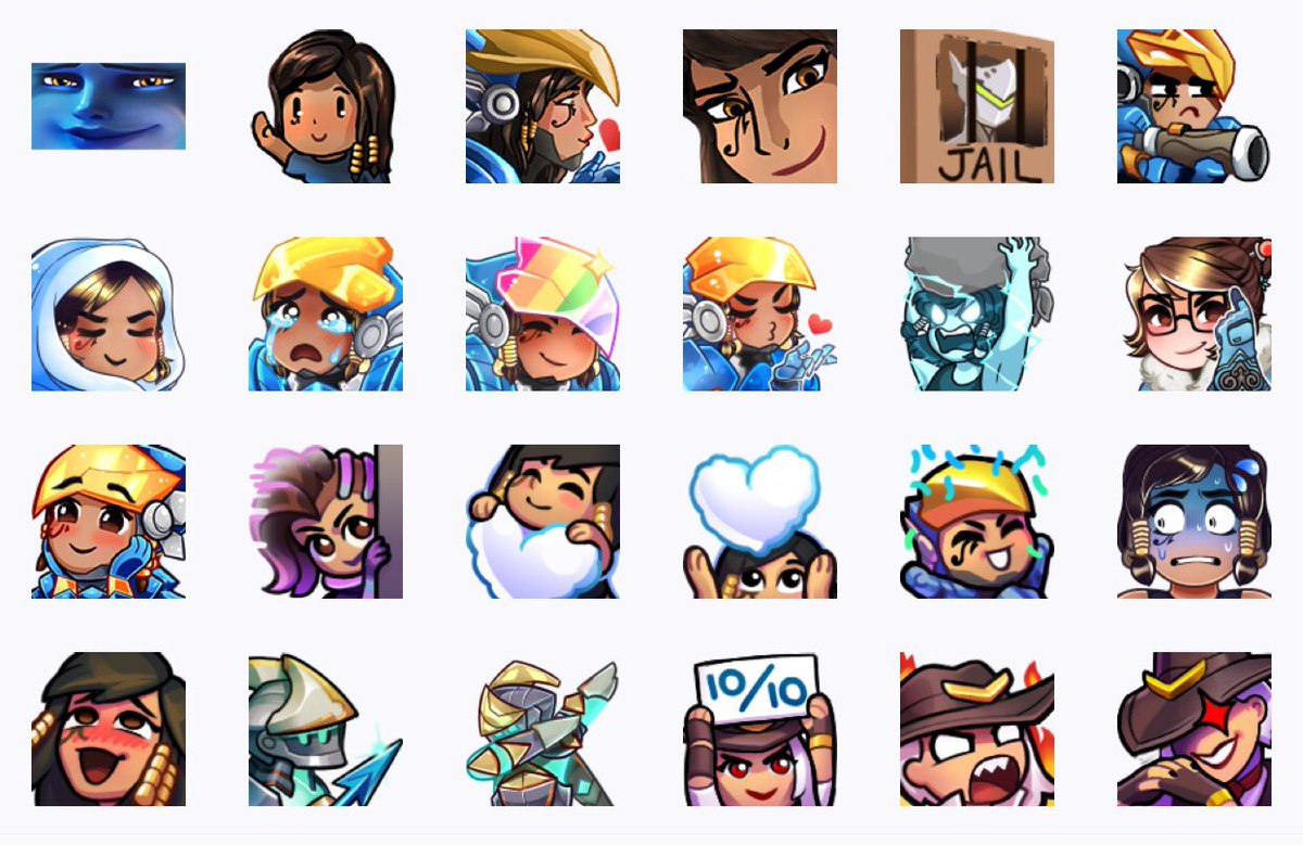 We have a TON of new emotes to do, would LOVE some suggestions from you! Current emotes below!   ...no ayaya >:c