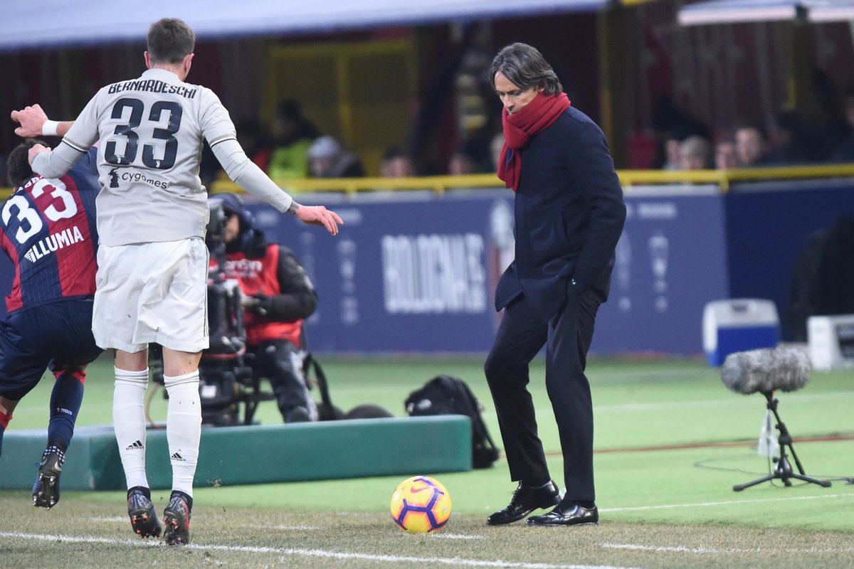 """🎙Inzaghi: """"Soriano and Sansone had good debuts, I wanted to give them 90 minutes. We'll now focus on the Spal game which has to be like a final for us.""""  #BolognaJuve #WeAreOne 🔴🔵"""