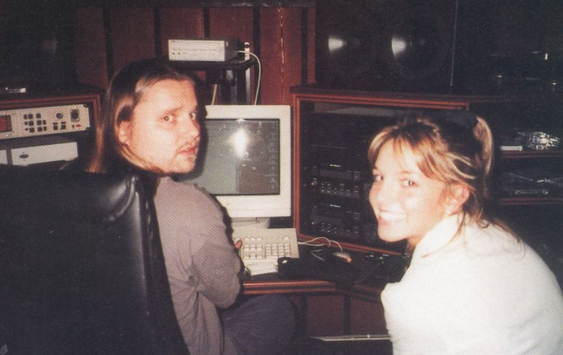 Britney recording the #BabyOneMoreTime  album. <br>http://pic.twitter.com/M9vFQdNxlO