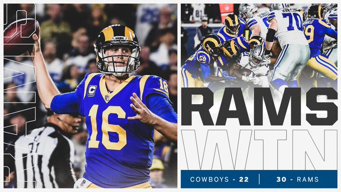 The Rams advance to their 1st NFC Championship game since 2001! Photo