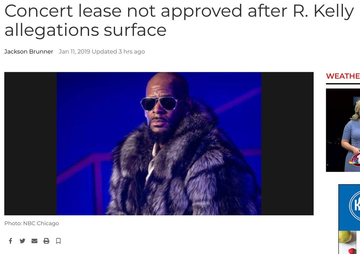 Illinois State leaders have denied an application for a concert featuring #RKelly at the #Illinois State Fairgrounds. Now can we get every venue to follow suit 🤔 #MuteRKelly