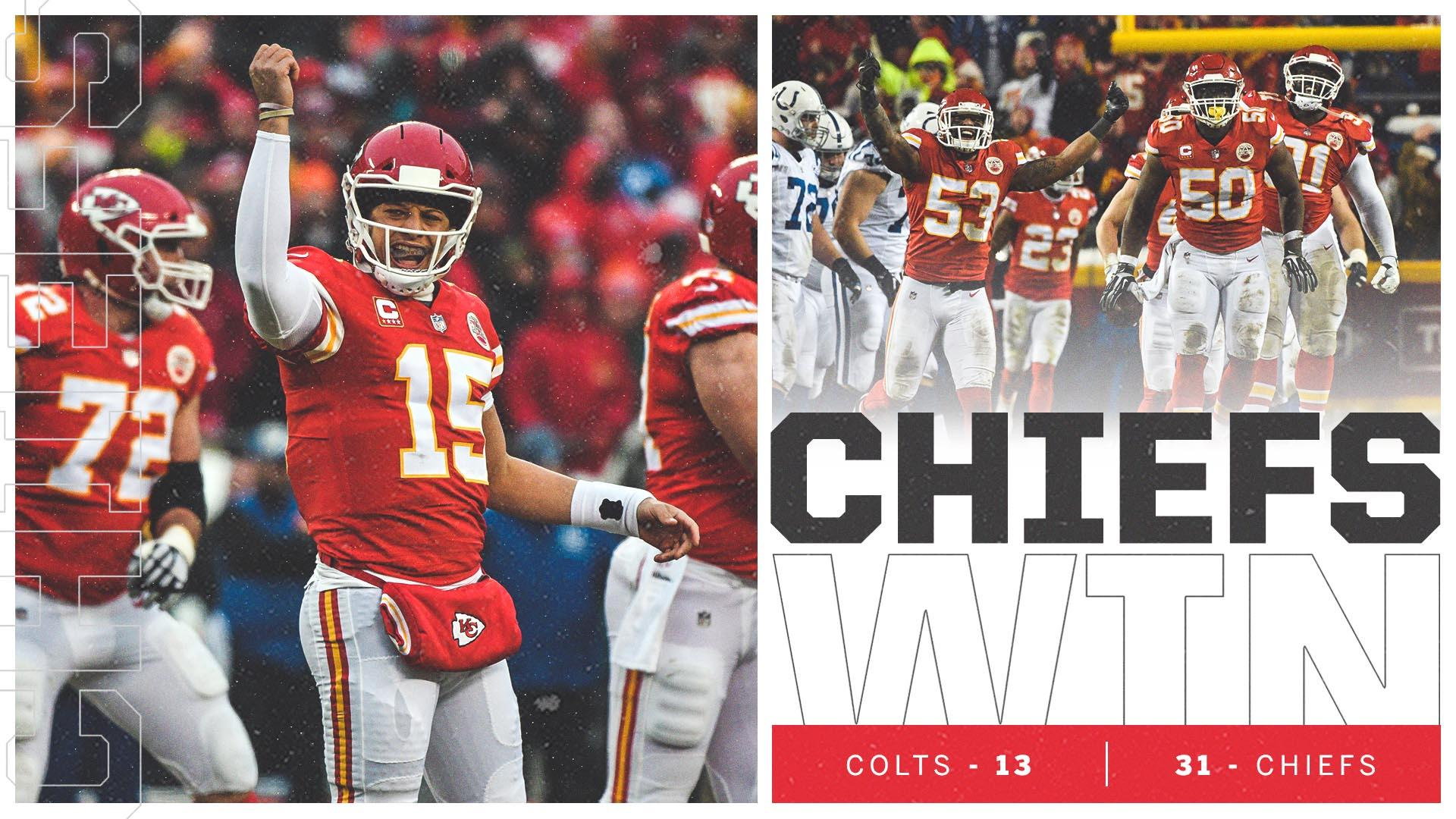 Chiefs are playing for the AFC title ��  Kansas City wins its first home playoff game since 1993. https://t.co/nYEgh1hEdN