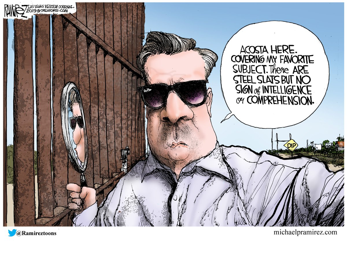 ACOSTA PROVES BORDER WALLS WORK #tcot  http://www. michaelpramirez.com/cnns-jim-acost a-reports-from-the-wall-in-his-head.html &nbsp; …  Like @ Facebook: http://www. facebook.com/Michael-Ramire z-Political-Cartoonist-92009530531/?fref=ts &nbsp; …  BOOK: http://www. amazon.com/Give-Me-Libert y-Obamacare/dp/150111025X &nbsp; … <br>http://pic.twitter.com/Vq6wIxF9We