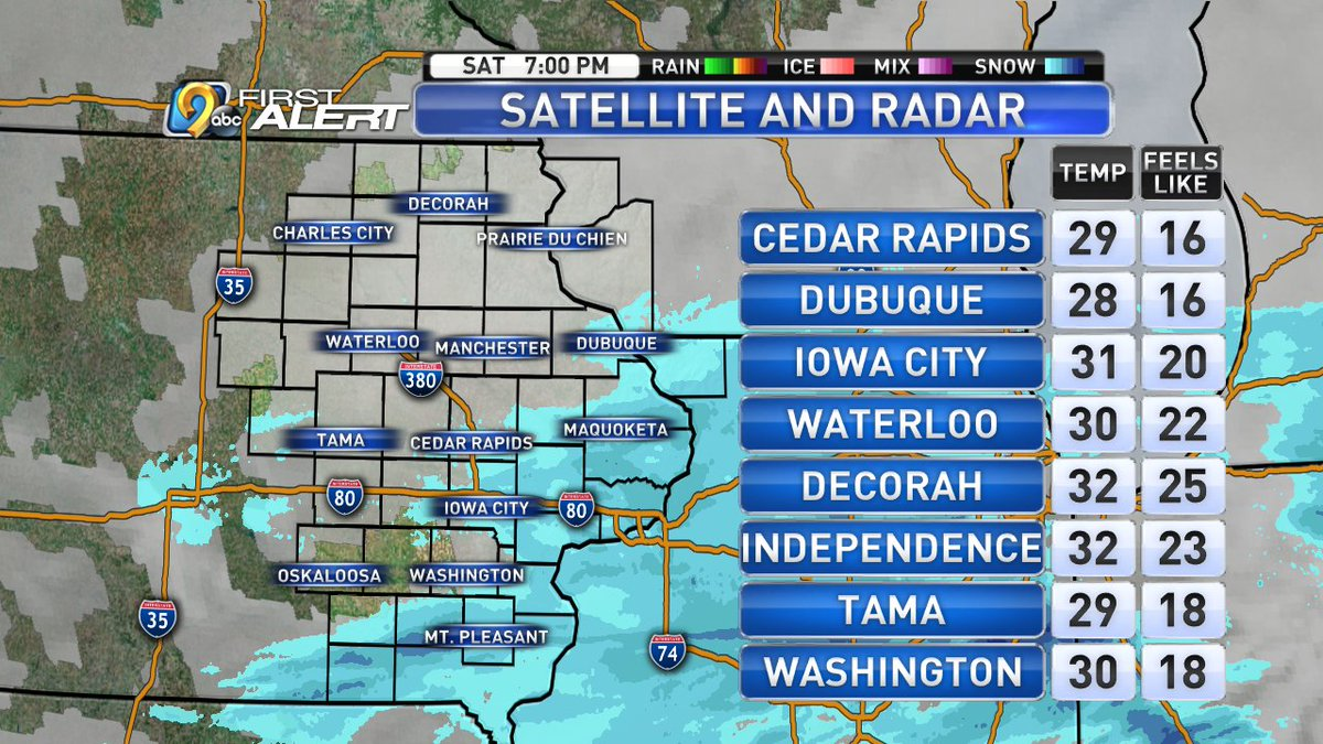 Kcrg Tv9 First Alert Weather On Twitter Your Current Conditions
