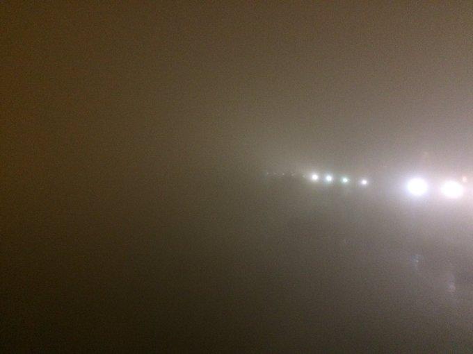 Sensación térmica. La niebla que comenta Cardeñosa #RosaVientos Foto