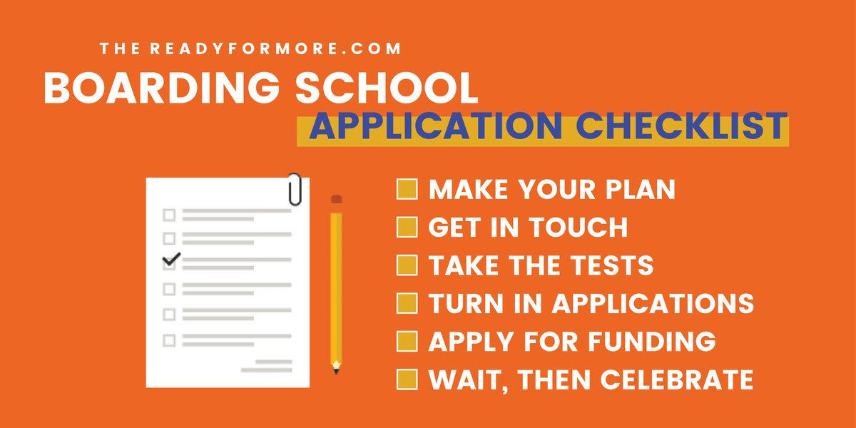 Ready, set, apply! 📝🎉 It's that time of year! Get your Admission Plan Checklist at readyformore.com/how-to-apply/a…