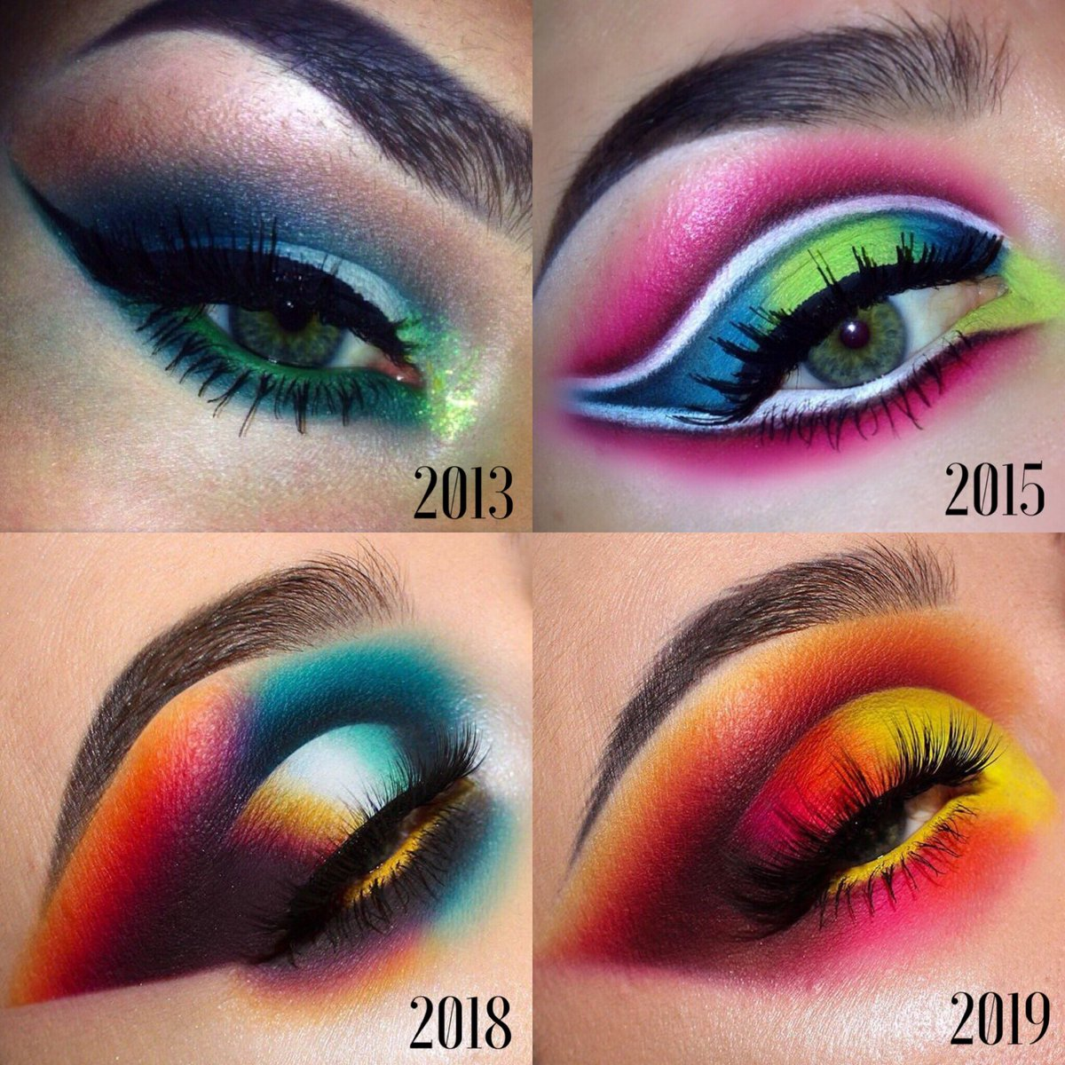 Sometimes it's good to look back and see how far you've come. 👁 #neverstoplearning #makeup #makeupprogress