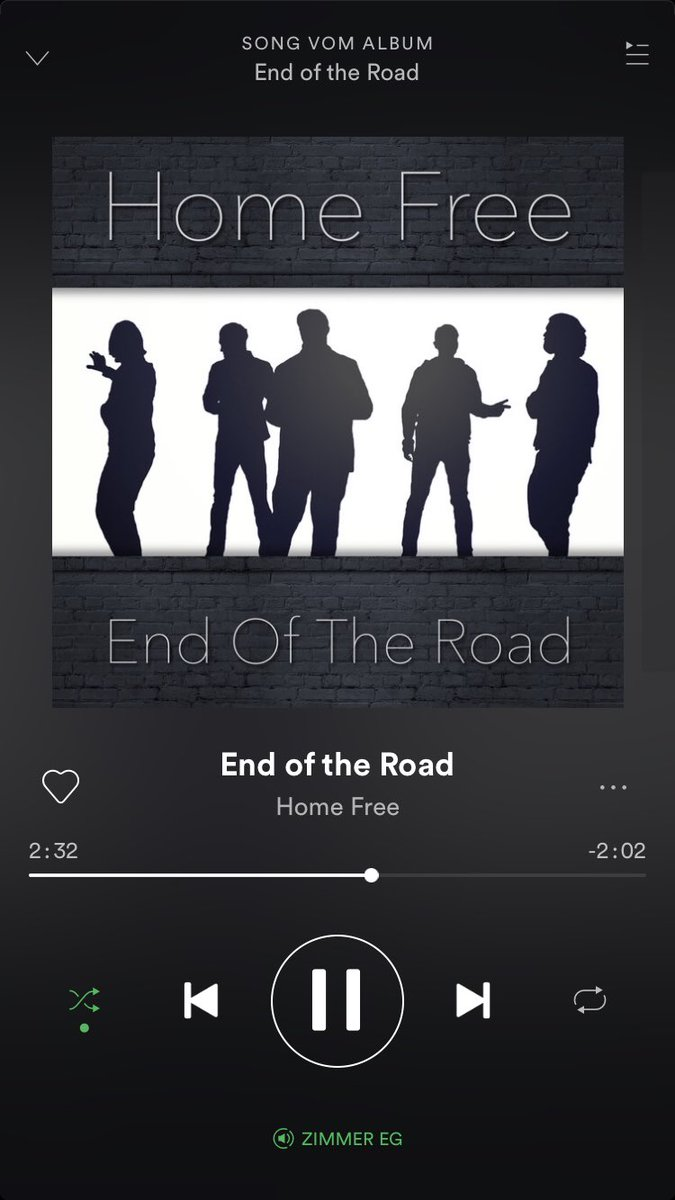 Listen to @HomeFreeGuys EndOfTheRoad. It's amazing. Save it on @Spotify. @RobLundquist you're killing it.<br>http://pic.twitter.com/t2yPy6Ist8
