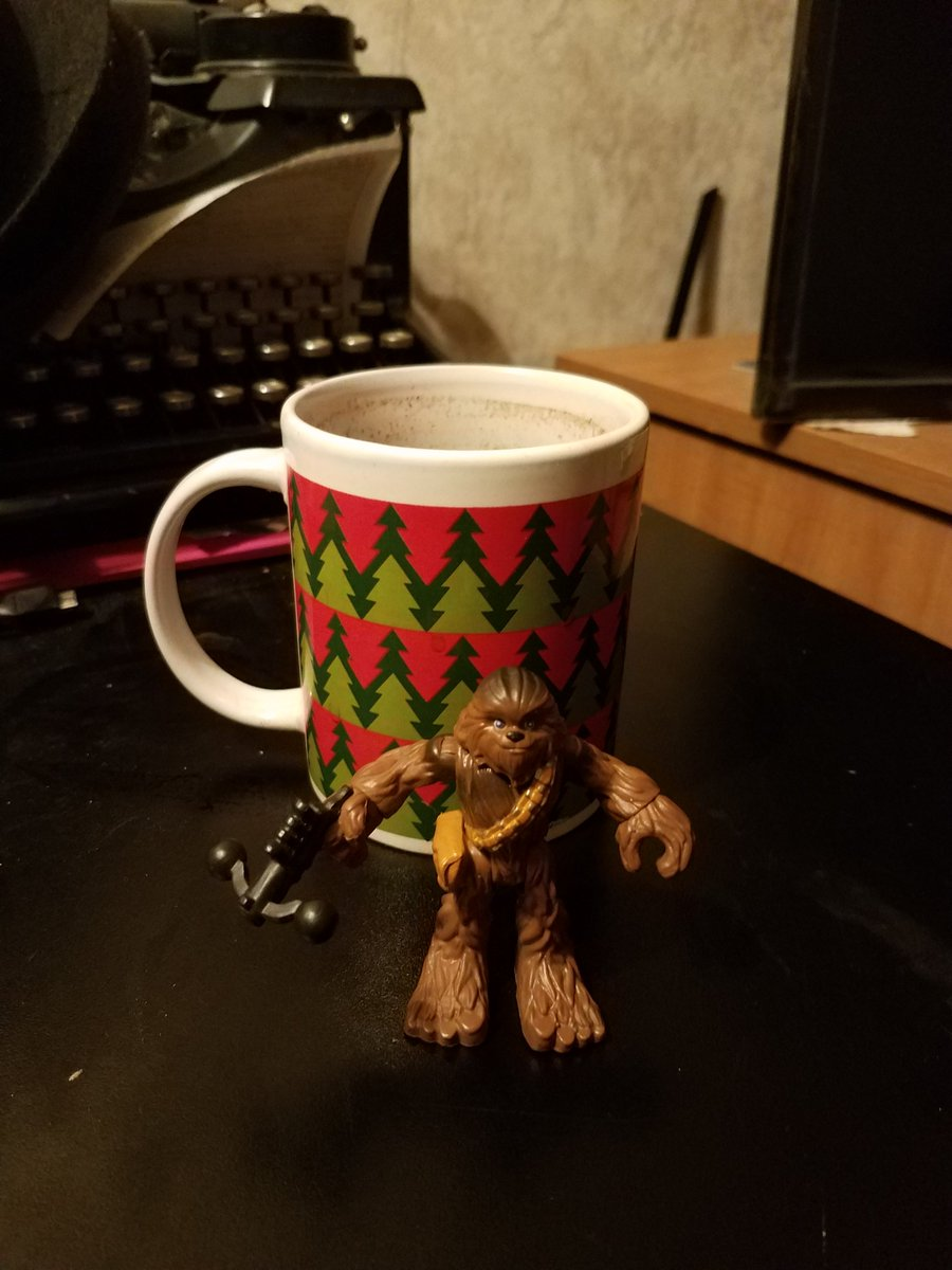 Chewbacca guards my wine during the snowpocalypse. @HamillHimself<br>http://pic.twitter.com/jvOpUr3meX