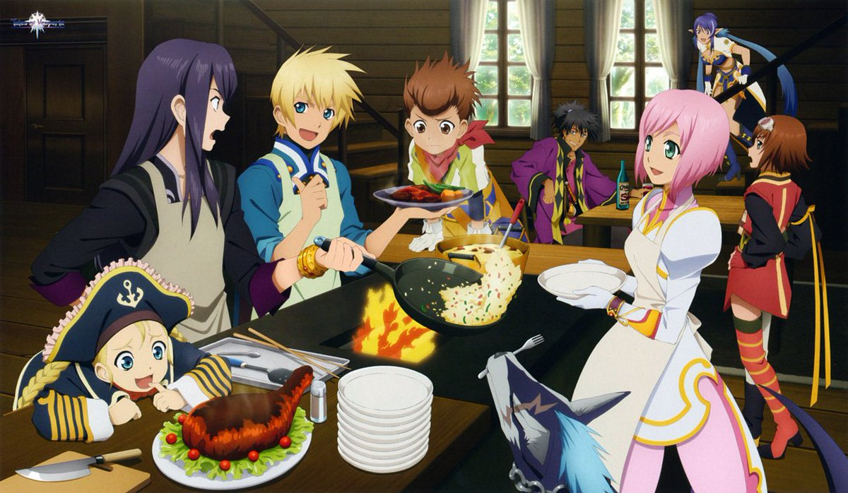 DYK: You can cook in #TalesOfVesperia Definitive Edition?...we just want an excuse to use this pic