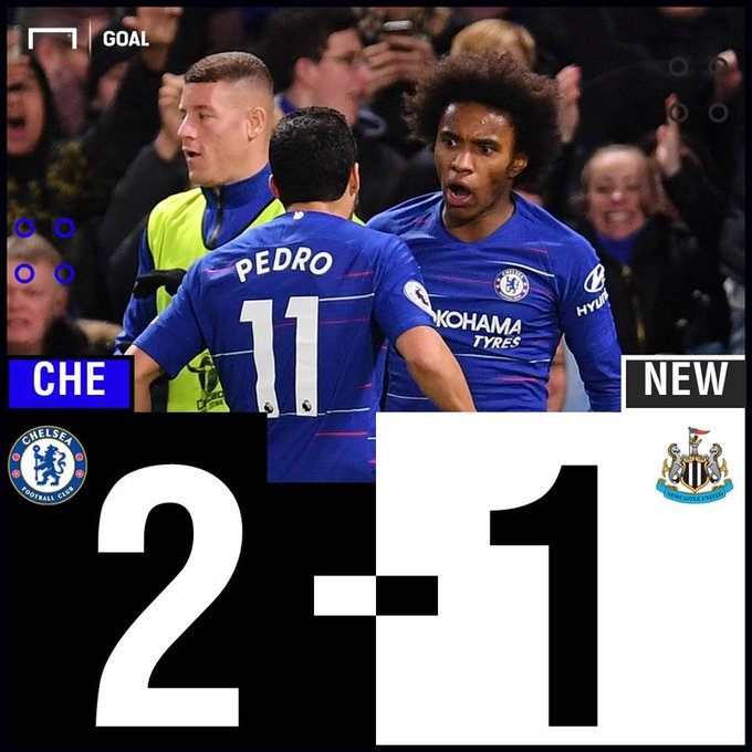 Chelsea had to work hard for those three points! #CHENEW Photo