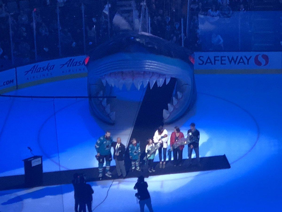 Honoring the 1000 game for @Burnzie88 #SharksForLife <br>http://pic.twitter.com/5hwkdNy9g0