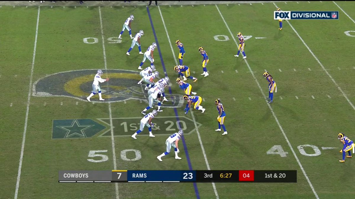 RT @NFL: Galluping for 44 yards!  First and goal for the #DallasCowboys  📺: #DALvsLAR on FOX https://t.co/FiA1rWW526