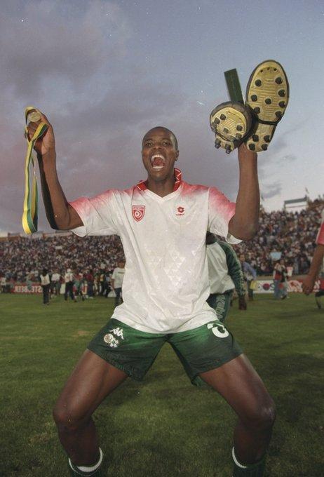 Former @LUFC and @BafanaBafana striker Phil Masinga has passed away aged 49 #SSN Photo