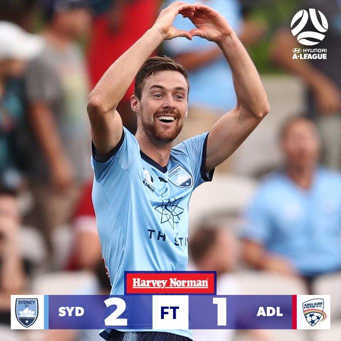 FULL TIME | Sydney FC return to winning ways. Watch the goals: #SYDvADL #ALeague Photo