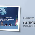 Image for the Tweet beginning: #TodayInHistory in 1993 the #ChemicalWeapons