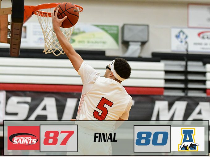 SAINTS WIN IN OVERTIME! Leaders: Chavez- 25 pts, 7 reb, 1 ast Redix- 17 pts, 4 reb, 3 ast Henderson- 14 pts, 5 reb, 1 ast Up Next: Saints travel to Western Oregon Thursday, Jan. 17th at 7:30 PM #ClimbTheMountain Photo