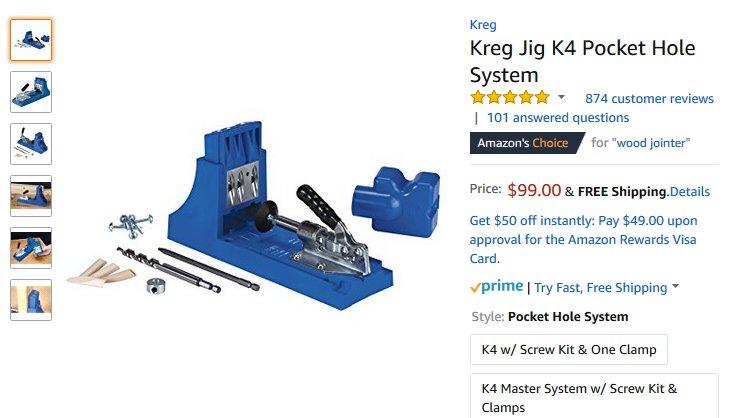 Kreg pocket hole jig Manual