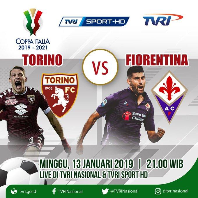 #TODAYMATCH #CoppaItalia TORINO vs FIORENTINA WIB INTER vs BENEVENTO WIB NAPOLI vs SASSUOLO WIB [@TVRINasional LIVE] Foto