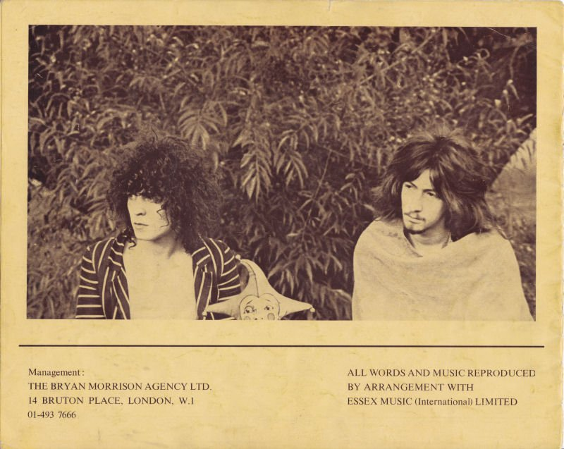 For The Lion And The Unicorn In the Oak Forests Of Faun ~ Early &#39;69 tour, Tyrannosaurus Rex A couple of program pages + David Bowie as mime (support act)  (Photo of Marc &amp; Steve by Pete Sanders) #marcbolan #stevetook <br>http://pic.twitter.com/2XjHRmjNSJ