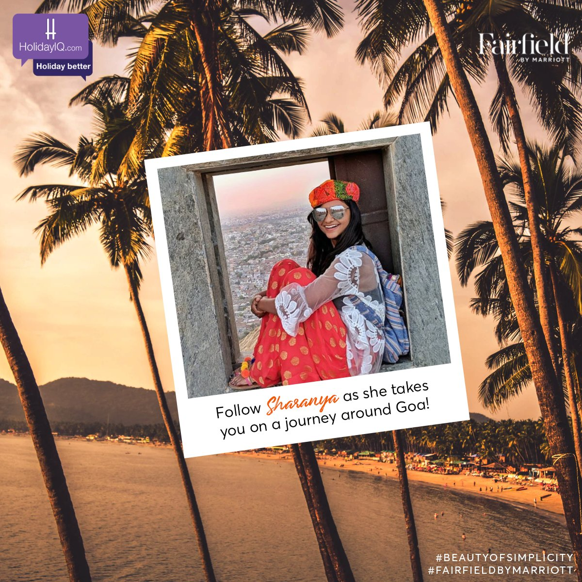 Say hello to our enthusiastic traveller Sharanya Iyer!  Follow her as explores Goa.  Watch this space to know more and do share your thoughts in the comments section.  #BeautyOfSimplicity #FairfieldByMarriott #holidayiq #holidayiqcommunity  @fairfieldanjuna https://t.co/lgdRQXXU8W