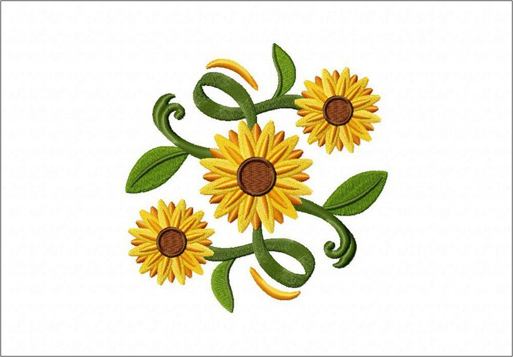 Adun Bordir On Twitter Aneka Contoh Motif Bordir Bunga Matahari Cantik Https T Co Mclfynkjlh