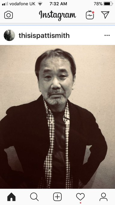 Happy birthday, Haruki Murakami. Patti Smith says it best: