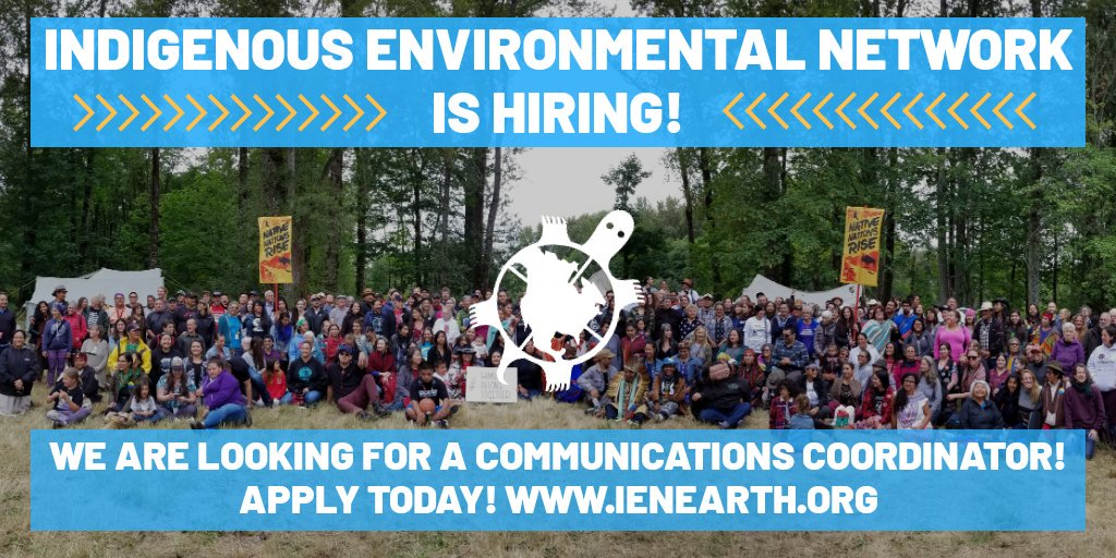 Are you a creative Indigenous person that has mass communications skills?!?! Holla! @IENearth